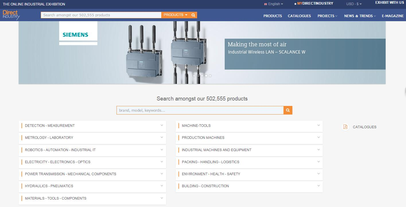 Directindustry国际工业b2b平台